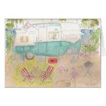 Trailer Art - Shasta Beach Camp Note Card