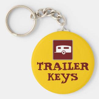 Trailer Camper Motorhome Basic Round Button Key Ring
