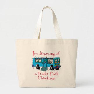 Trailer Park Christmas Large Tote Bag