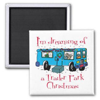 Trailer Park Christmas Refrigerator Magnets