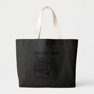 trailer park trash with class jumbo tote bag