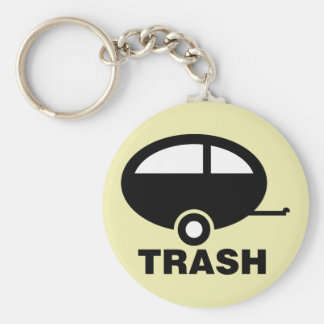 Trailer Trash ~ RV Travel Camping Key Ring