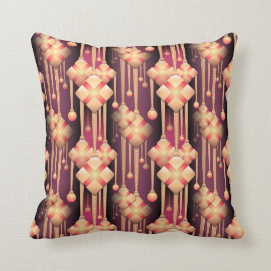 Trailing pattern throw pillow