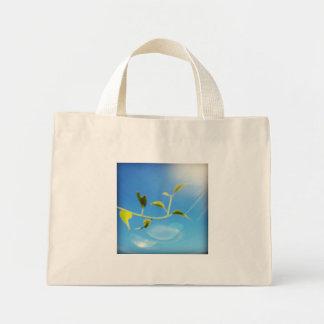 Trailing Vine Themed Tiny Tote Mini Tote Bag