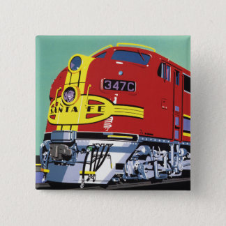 Train 15 Cm Square Badge