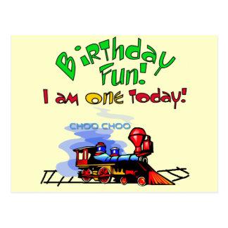 Train 1st Birthday Tshirts and Gifts Postcard