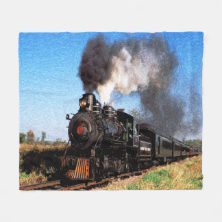 Train 2 fleece blanket