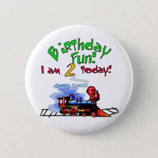 Train 2nd Birthday Tshirts and Gifts 6 Cm Round Badge