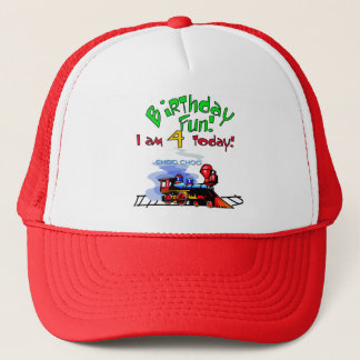 Train 4th Birthday Tshirts and Gifts Trucker Hat