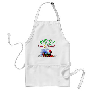 Train 5th Birthday Tshirts and Gifts Adult Apron