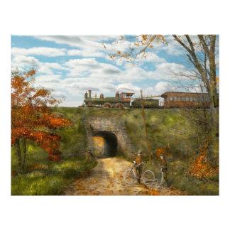 Train - Arlington, NJ - Enjoying the Autumn Day 21.5 Cm X 28 Cm Flyer