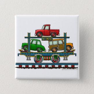 Train Auto Carrier Car Railroad  Car Pins