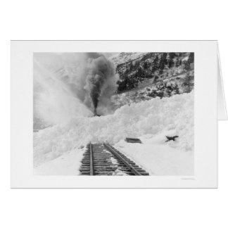 Train Avalanche Alaska 1916 Greeting Card