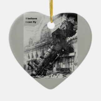 train believe it edge fly christmas ornament