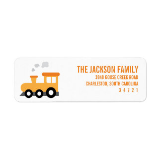 Train Birthday Party Return Address Label