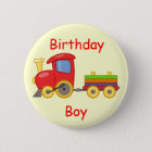 Train Birthday Pin