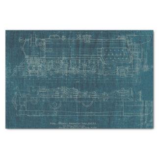 Blueprint craft tissue paper zazzle train blueprint i tissue paper malvernweather Image collections