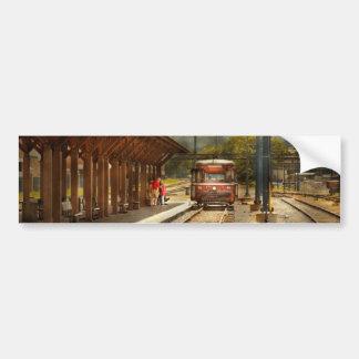 Train - Boarding the Scranton Trolley Bumper Sticker