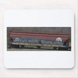 Train Boxcar Tagged Art Mouse Pad