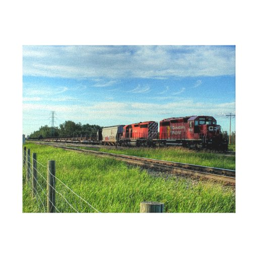Train Canadian Locomotive Gallery Wrapped Canvas