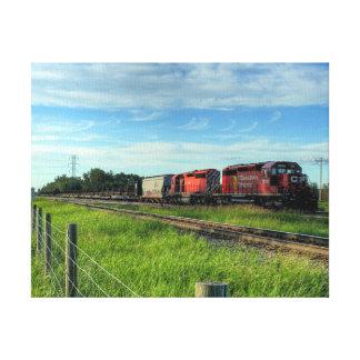 Train Canadian Locomotive Canvas Print
