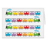 Train &  Carriages Greeting Card