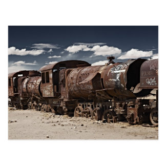 train cemetery near Salar de Uyuni Postcard