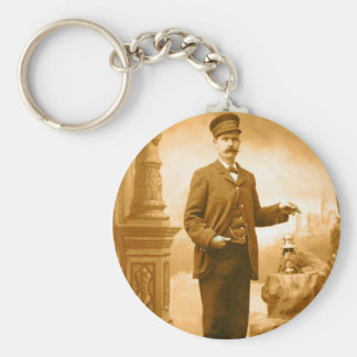 Train Conductor Keychain