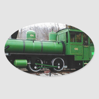 train - Copy.JPG display Natural Tunnel State Park Oval Sticker