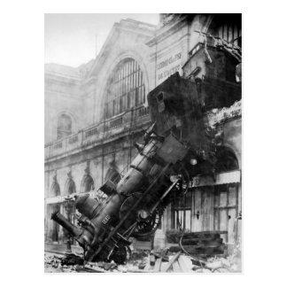Train Crash Vintage Photo Postcard