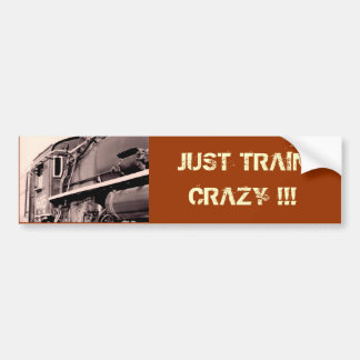 TRAIN CRAZY Bumper Sticker
