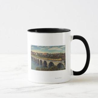 Train- Crossing Stone Arch Bridge Mug