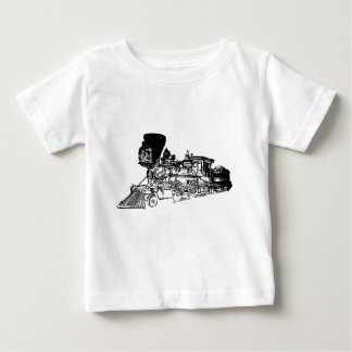 Train Drawing Design Baby T-Shirt
