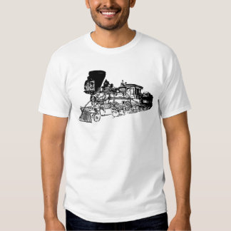 Train Drawing Design Tee Shirt