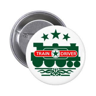 Train Driver 6 Cm Round Badge