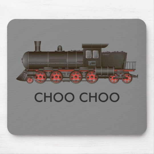 Train Engine Choo Choo or Customise Text Mouse Mat