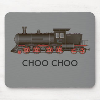 Train Engine Choo Choo or Customize Text Mouse Mat