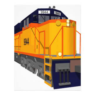 Train Engine: Classic Color Scheme: 21.5 Cm X 28 Cm Flyer