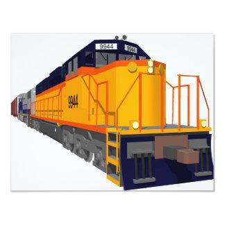 Train Engine: Classic Color Scheme: Card