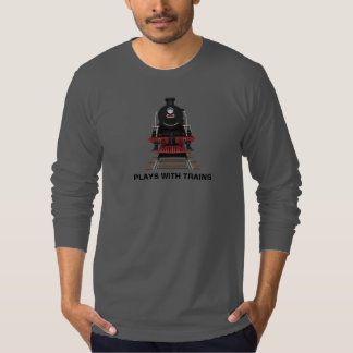 Train Engine Plays With Trains or Customize Text T-Shirt