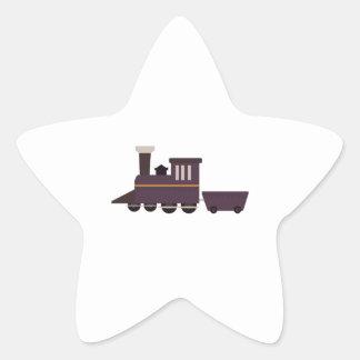 Train Engine Star Sticker