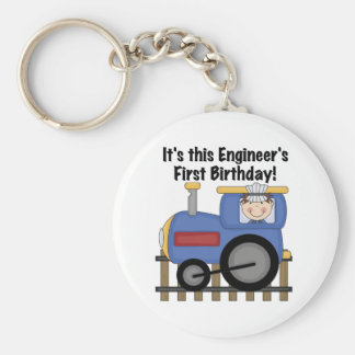 Train Engineer 1st Birthday Tshirts and gifts Key Ring