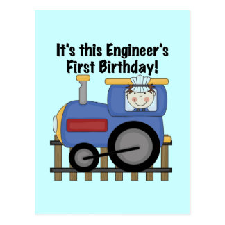 Train Engineer 1st Birthday Tshirts and gifts Postcard