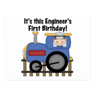Train Engineer 1st Birthday Tshirts and gifts Postcard