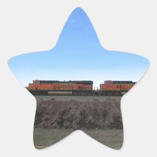 Train Engines Star Sticker