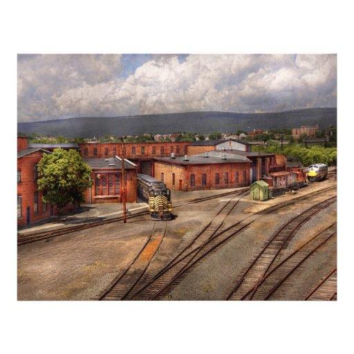 Train - Entering the train yard Full Color Flyer