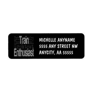Train Enthusiast Extraordinaire Return Address Label