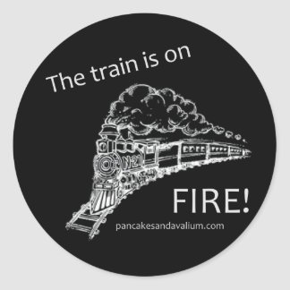 Train Fire Sticker 1
