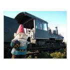 Train Gnome Postcard