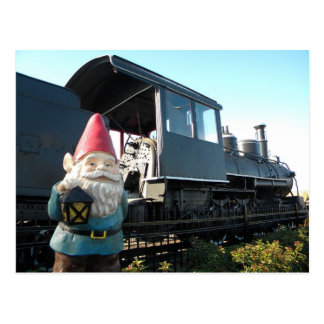 Train Gnome Postcard